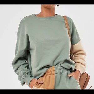 ⚪️MISSGUIDED Color Block Sweatshirt